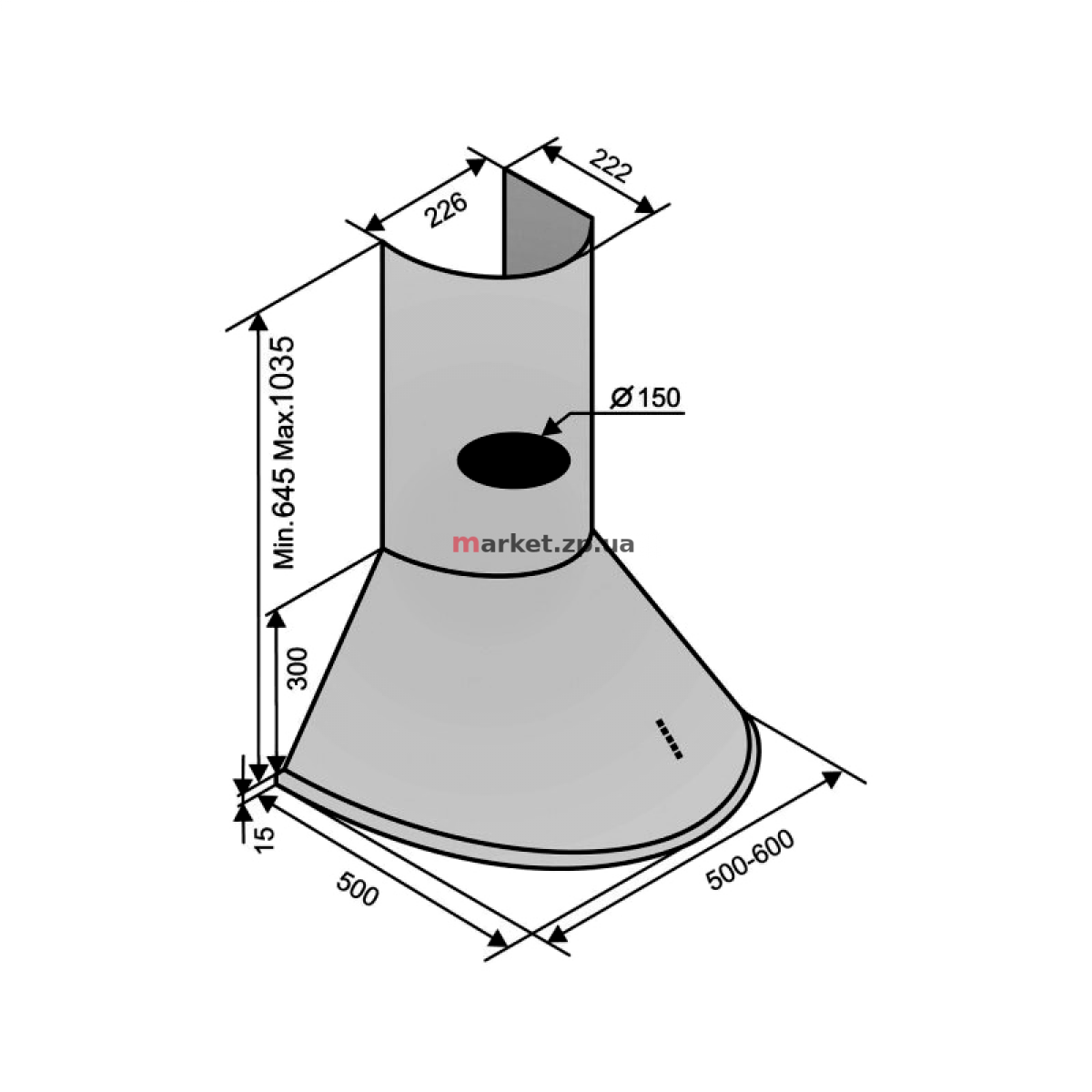 Вытяжка VENTOLUX CAPRI 50 W