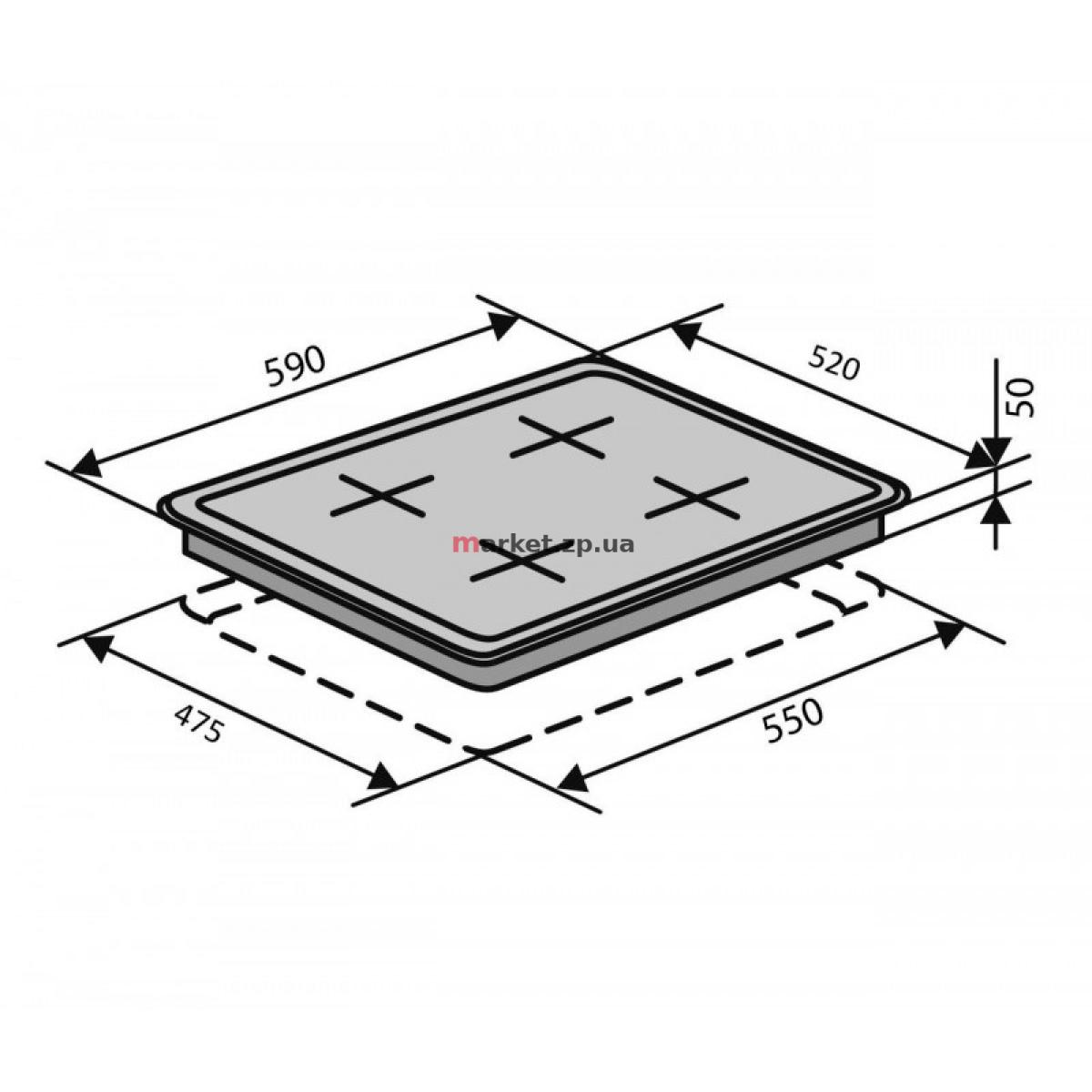 Поверхность газовая VENTOLUX HSF640-D3 CEST (BK)