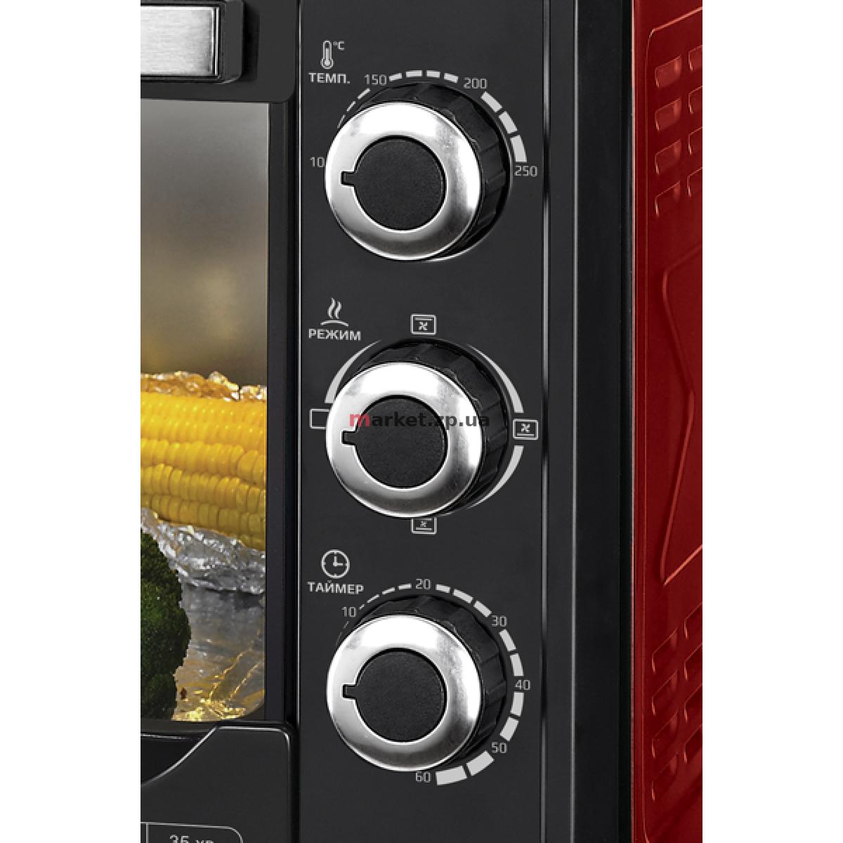 Духовка электрическая настольная LIBERTON LEO-480 Red
