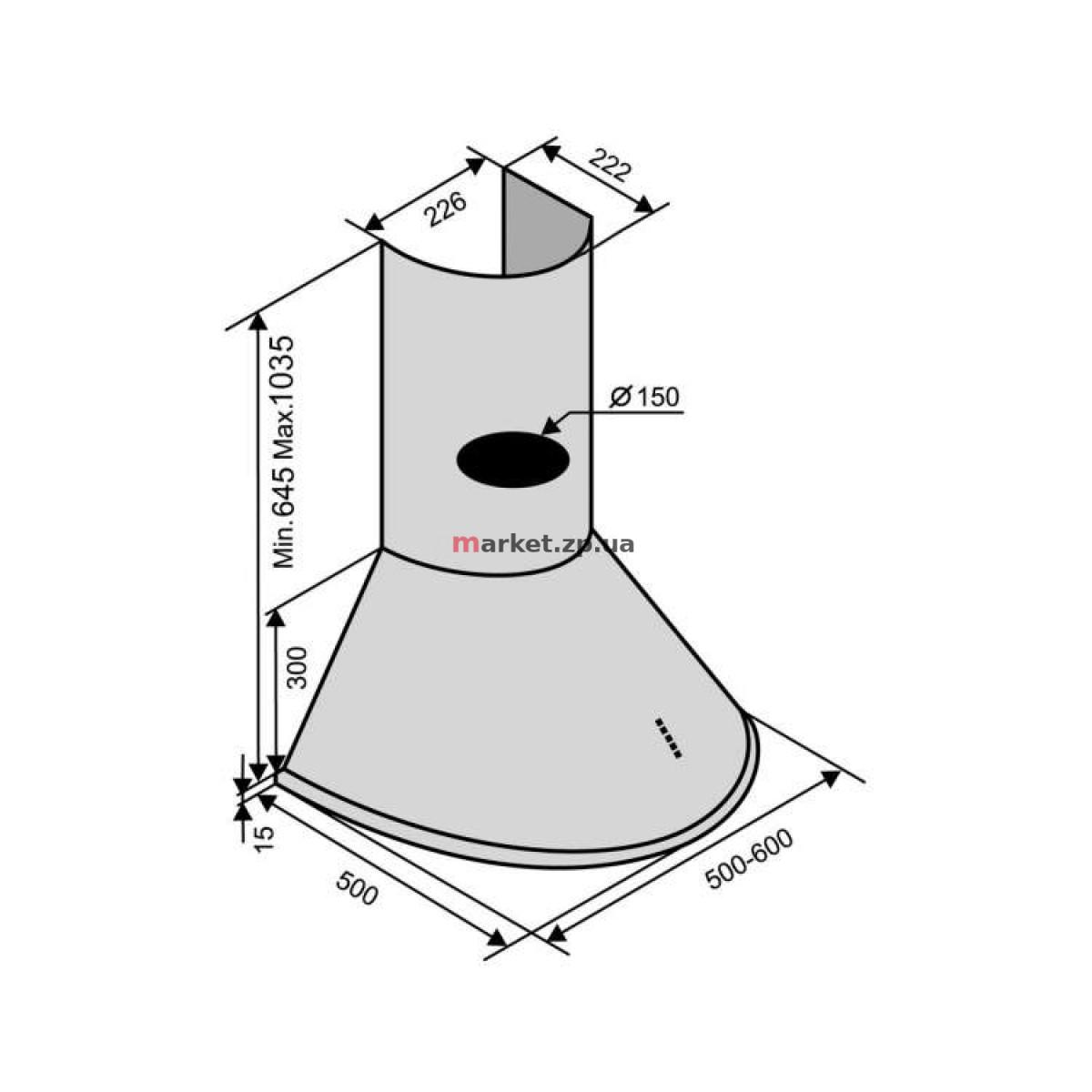 Вытяжка VENTOLUX CAPRI 60 INOX