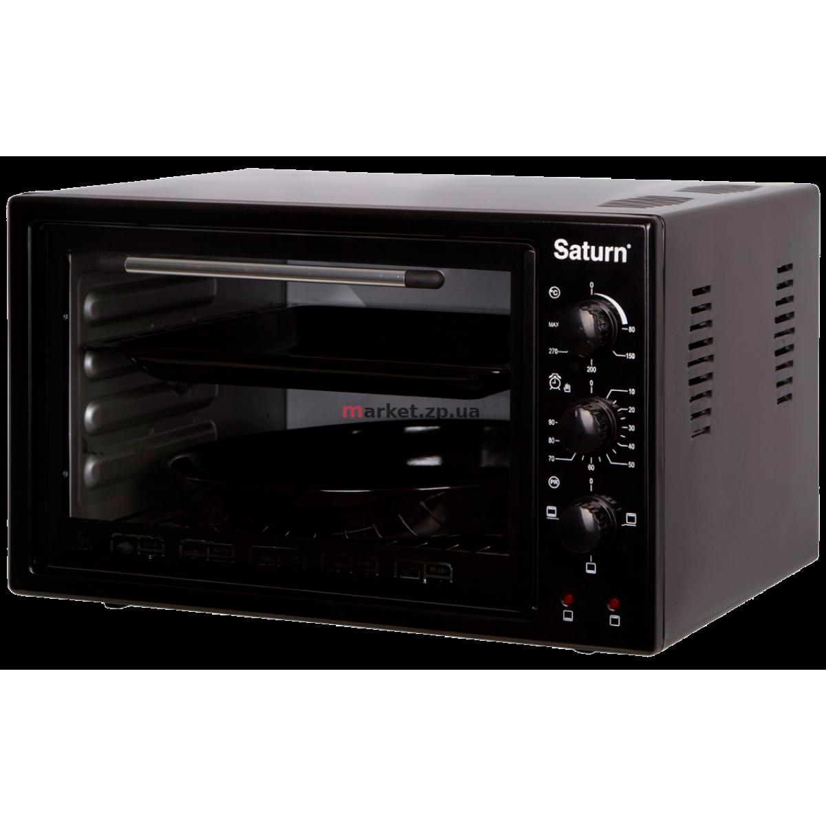 Духовка электрическая настольная SATURN ST-EC3801-Black