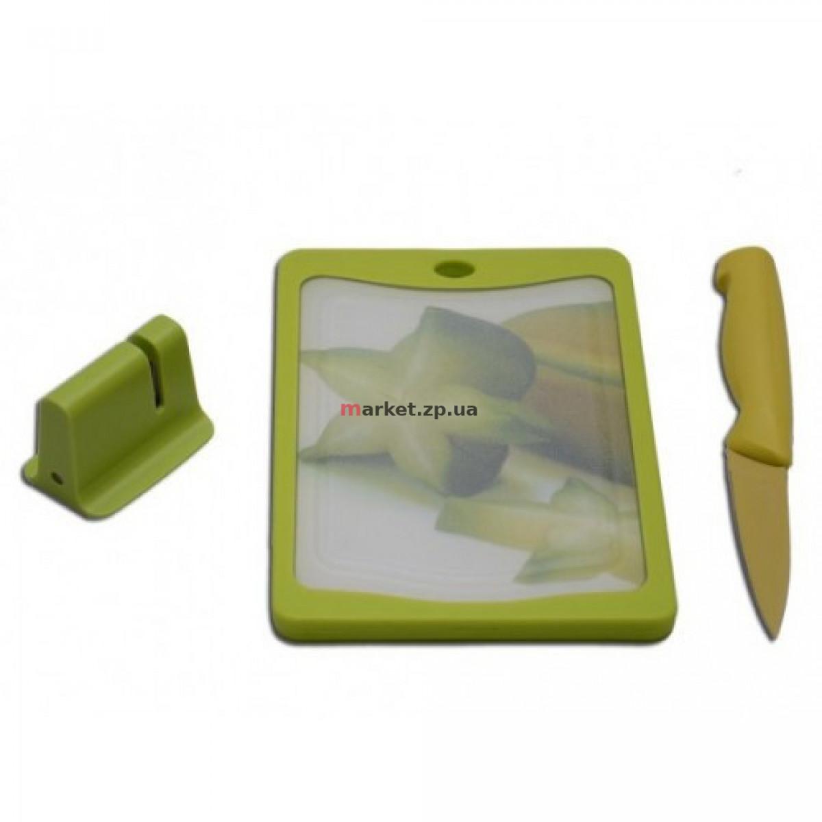 Набор HILTON FB-9+3P+KS1 /Доска+Нож +точилка