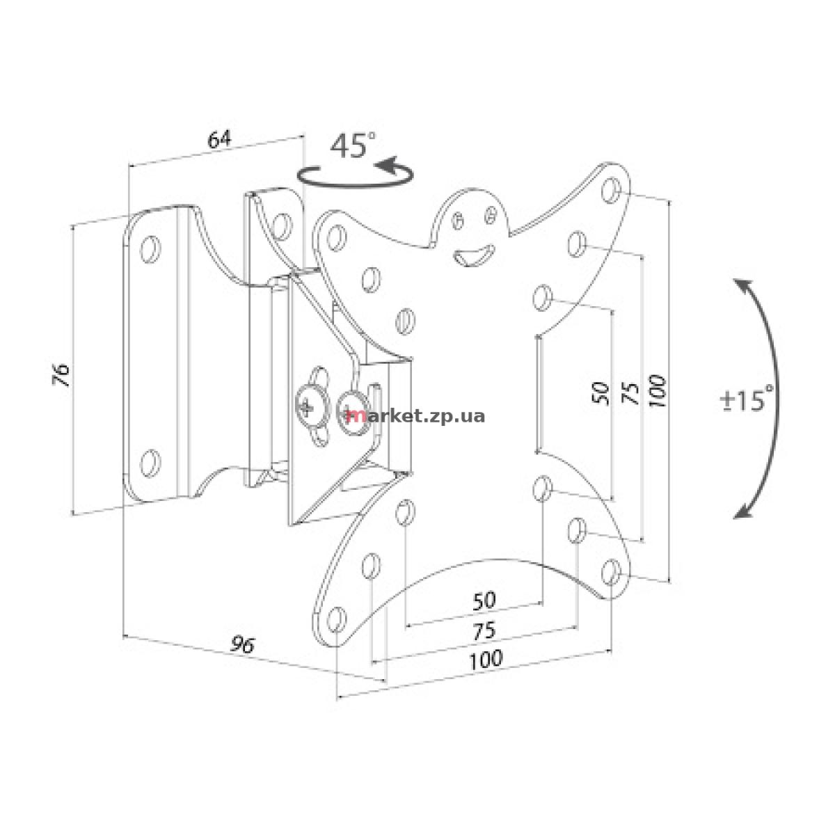 Наклонно-поворотный кронштейн KSL WM111T