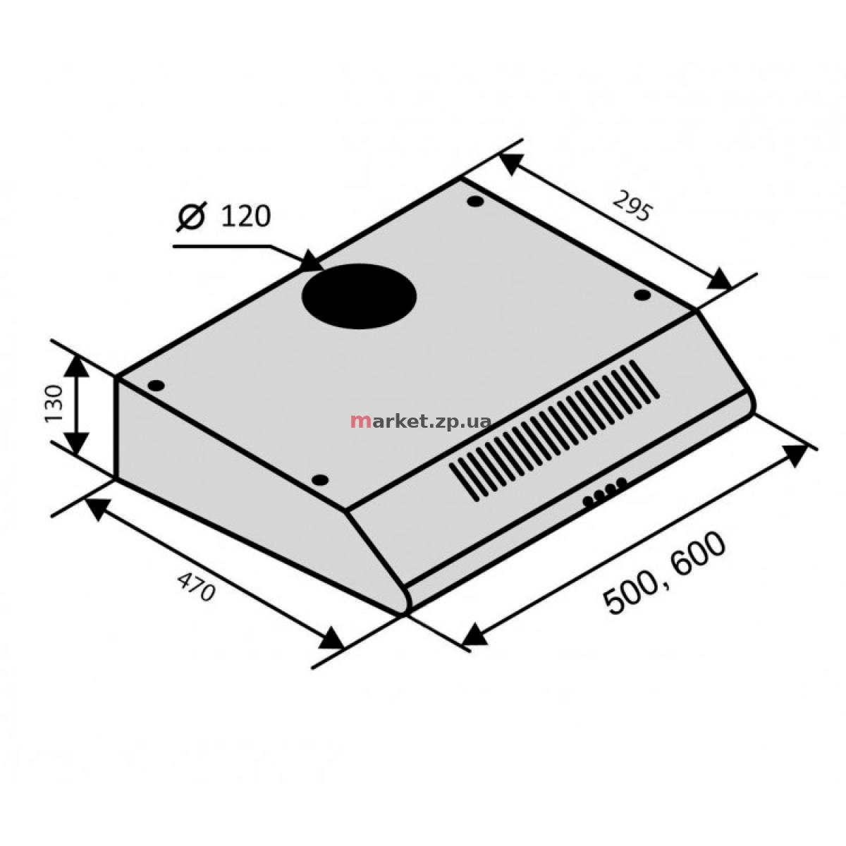 Вытяжка VENTOLUX ALDO 60 INOX 2M