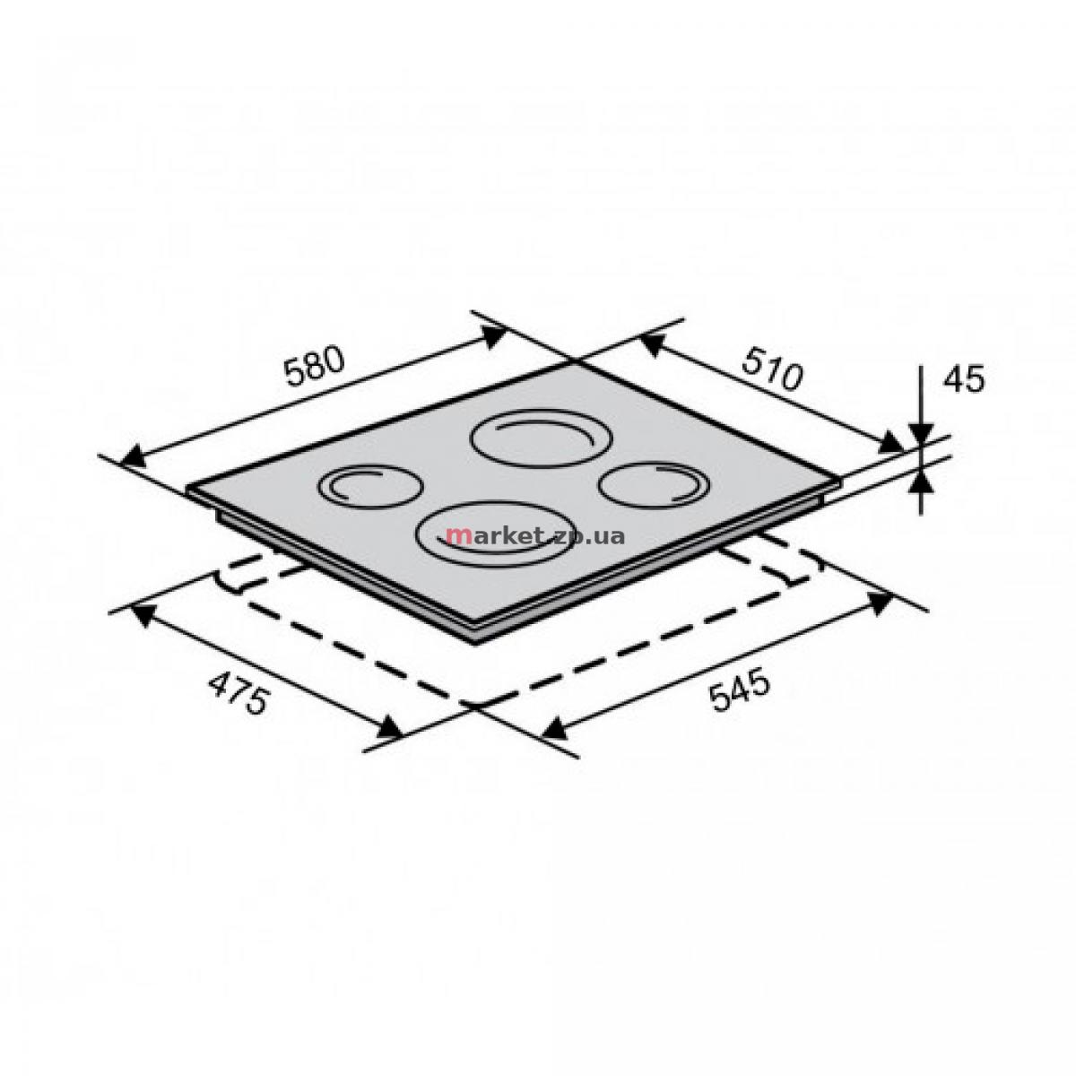 Поверхность стеклокерамическая VENTOLUX VB 6001 TC