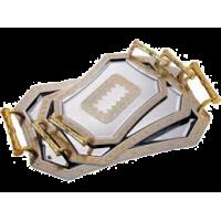 Поднос BERGNER 4853 3пр шестиуг с золот