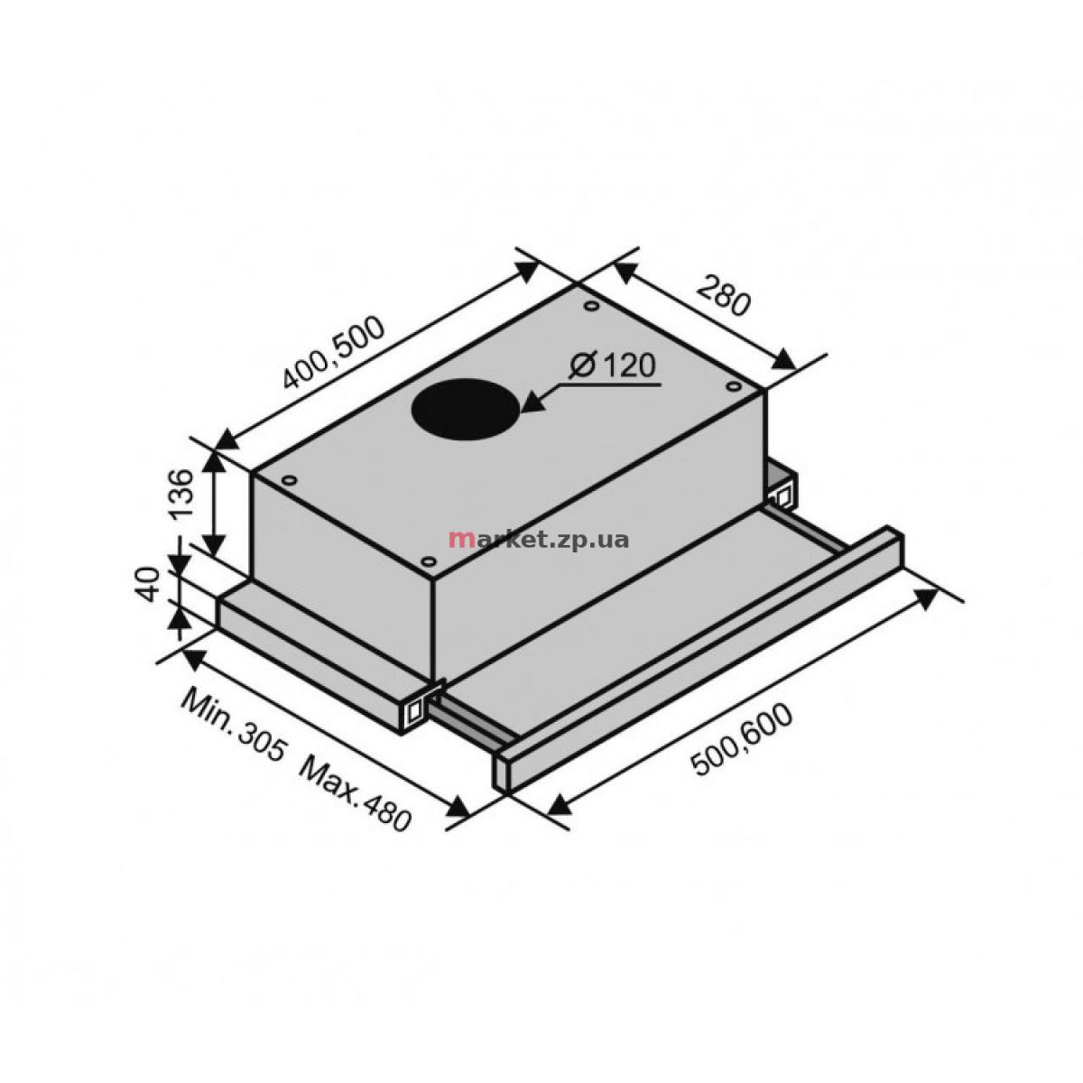 Вытяжка VENTOLUX GARDA 60 WH (620)