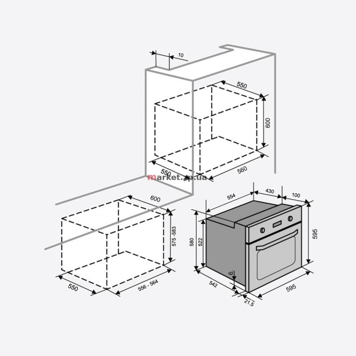 Духовой шкаф VENTOLUX  EO56M-6K WH