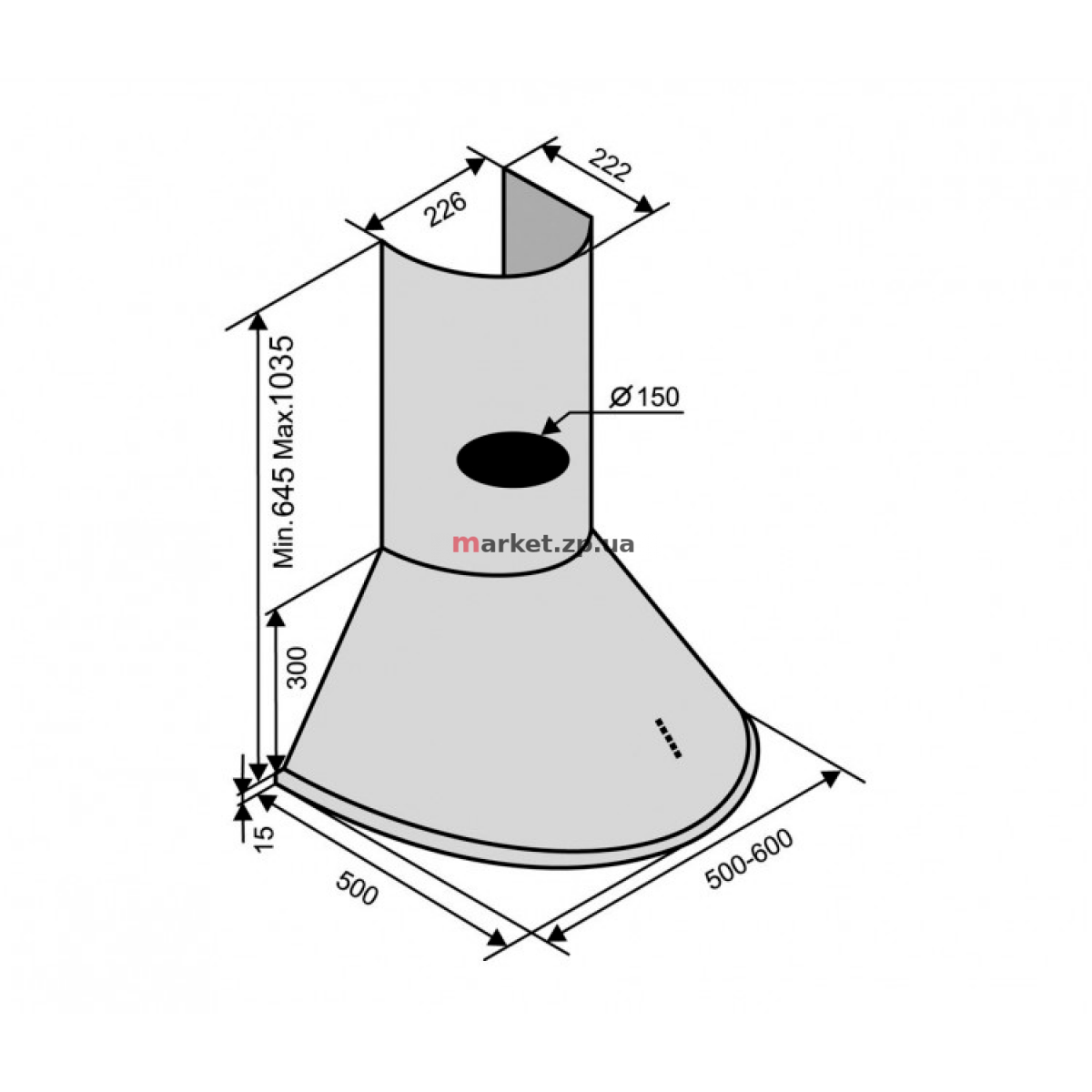 Вытяжка VENTOLUX CAPRI 60 WH