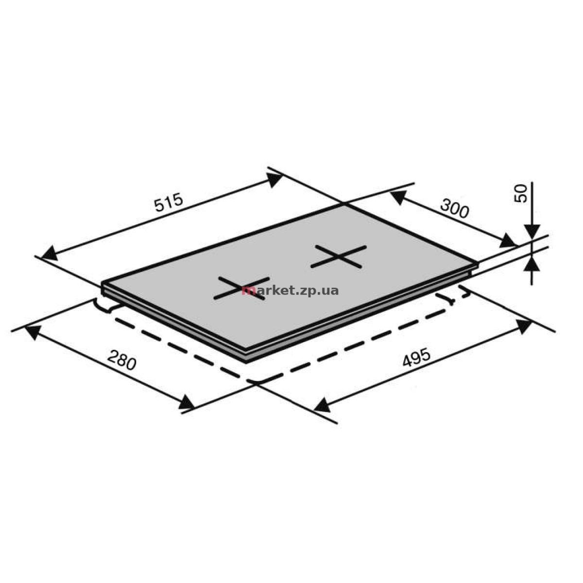 Варочная поверхность  электрическая VENTOLUX HE 302 (BK) 2