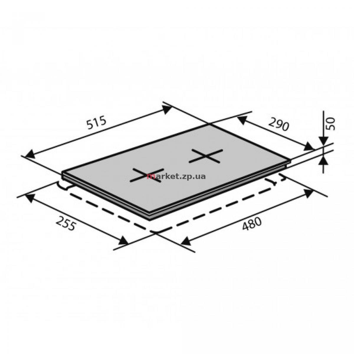 Варочная поверхность электрическая VENTOLUX HE 302 (INOX) 2
