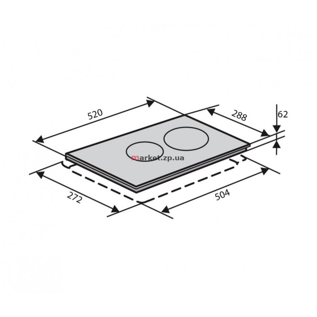 Поверхность стеклокерамическая VENTOLUX VB 62 TC