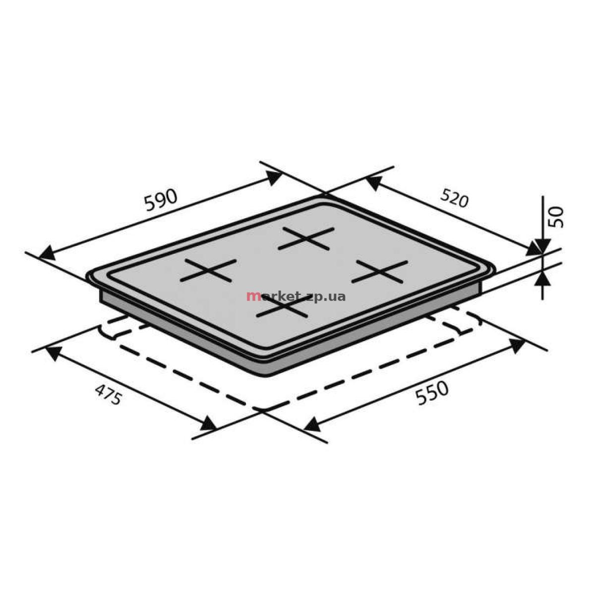 Варочная поверхность газовая VENTOLUX  HSF640-T3G CEST (WH)