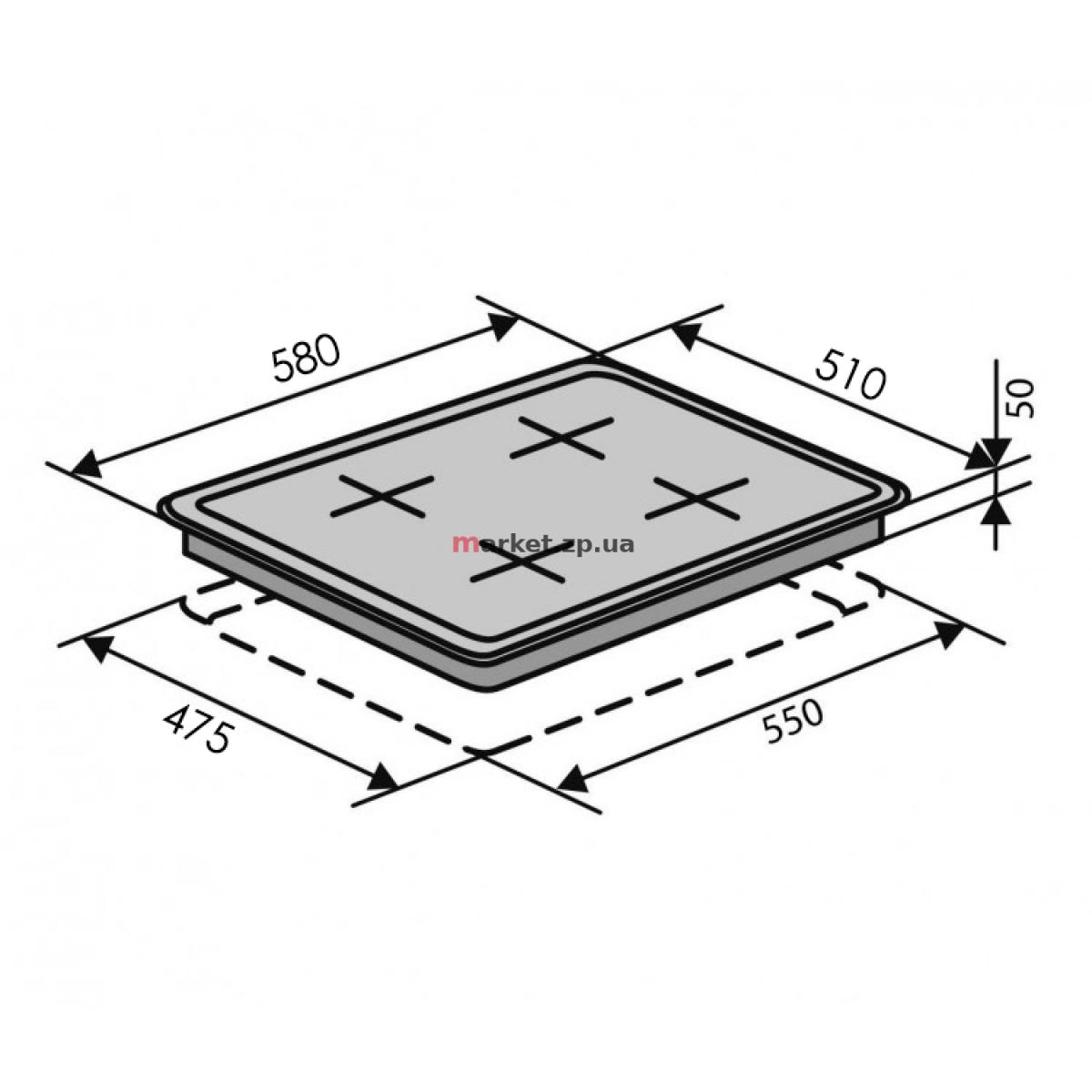 Варочная поверхность газовая VENTOLUX HSF640-F2 CEST (WH)