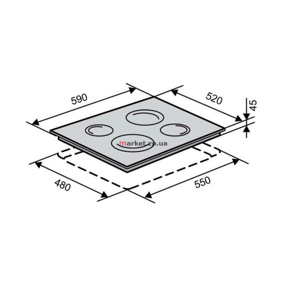 Поверхность стеклокерамическая VENTOLUX VB 60 TC WH