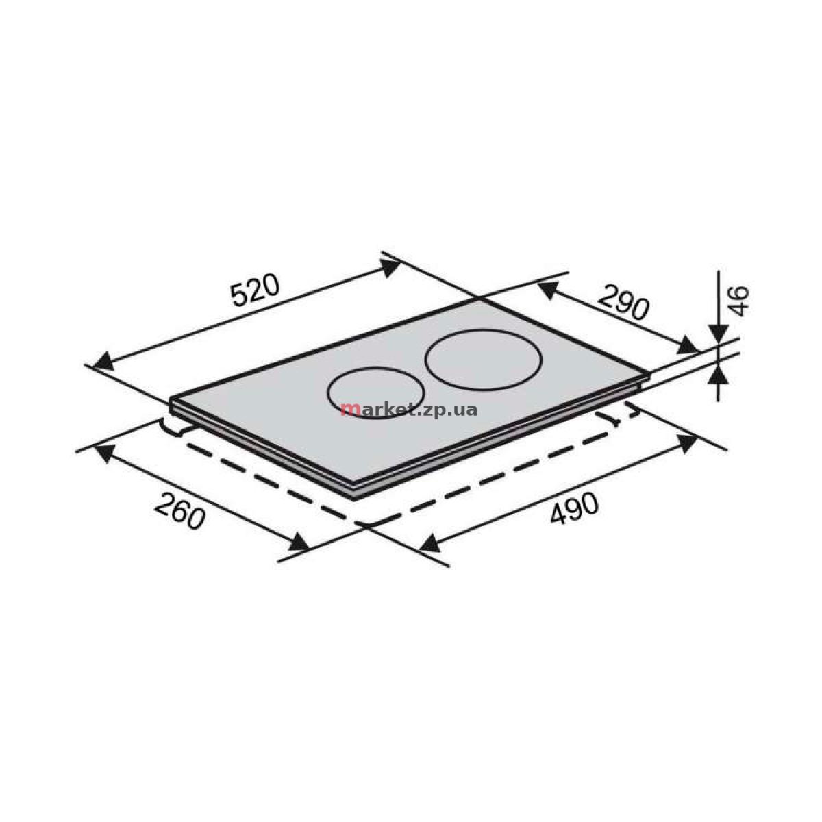 Варочная поверхность индукционная VENTOLUX VI 32 TC WH