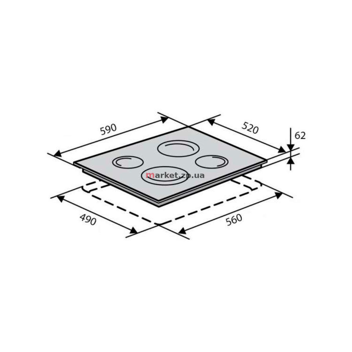 Поверхность индукционная VENTOLUX VI 64 TC WH