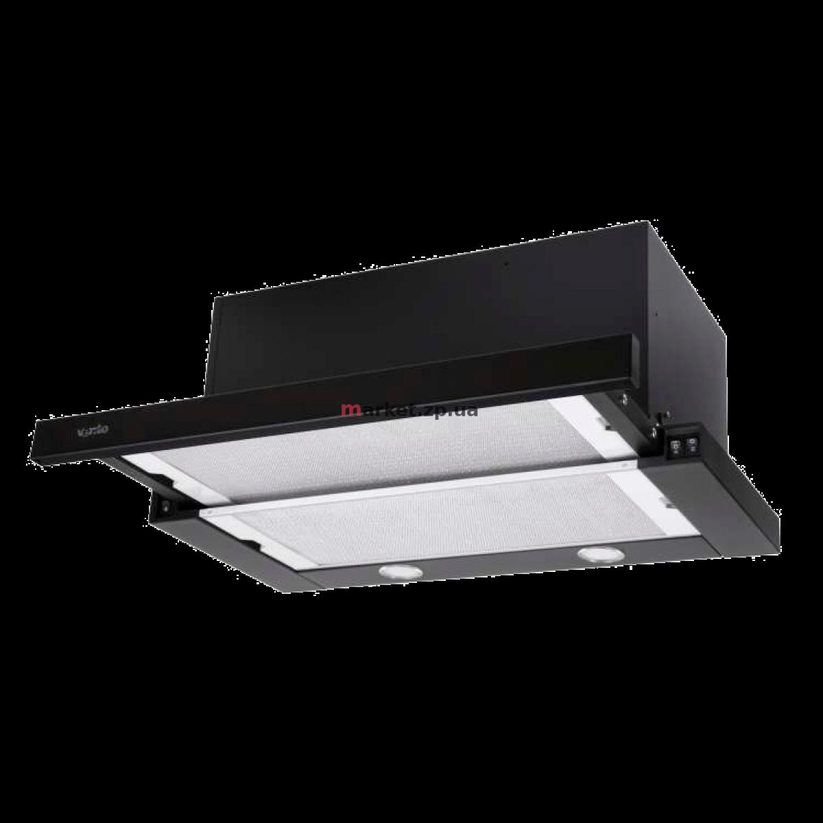 Вытяжка VENTOLUX GARDA 60 BK (1300) SMD LED