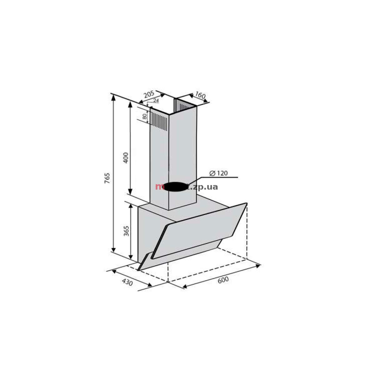 Вытяжка VENTOLUX RIMINI 60 BK (650) TRC