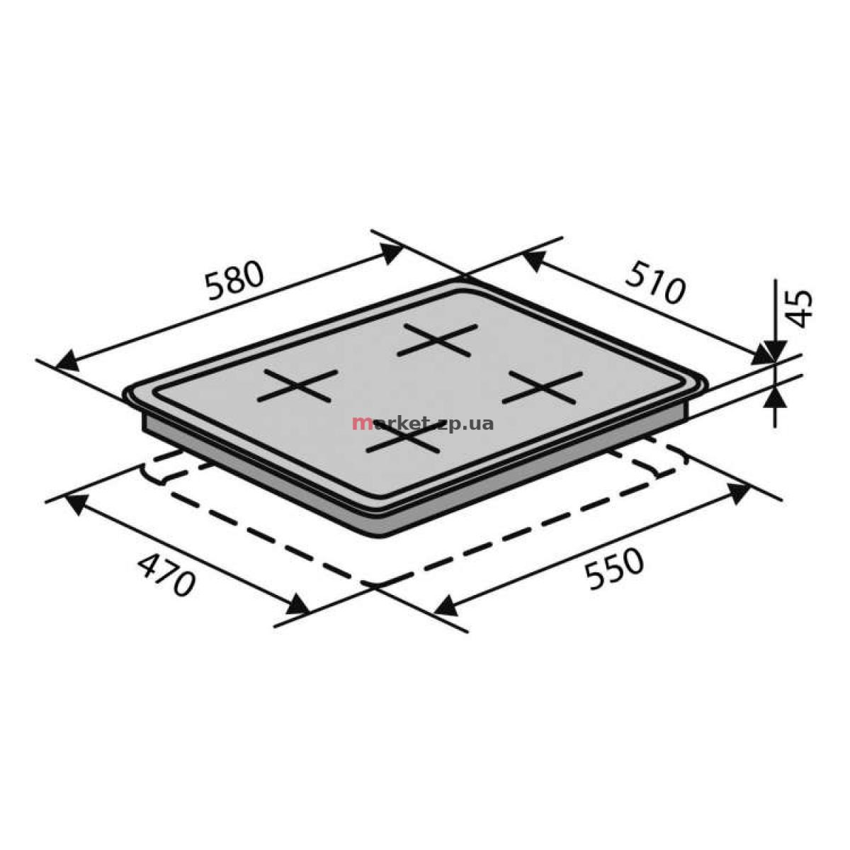 Поверхность VENTOLUX HG640 B2 S (WH)