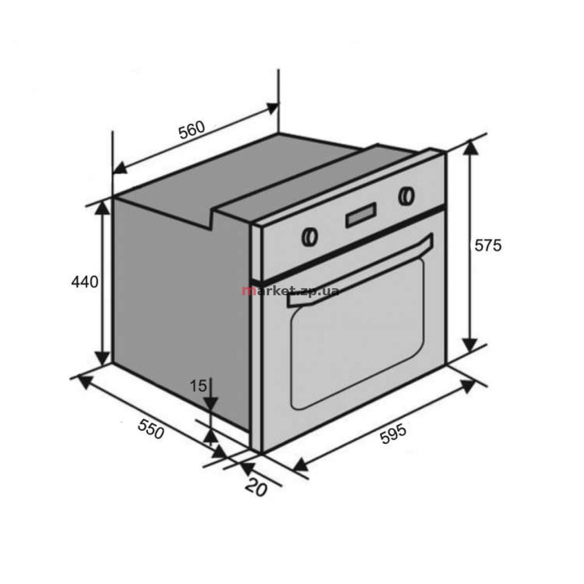 Духовой шкаф VENTOLUX  TOLEDO 6 MT (BK)
