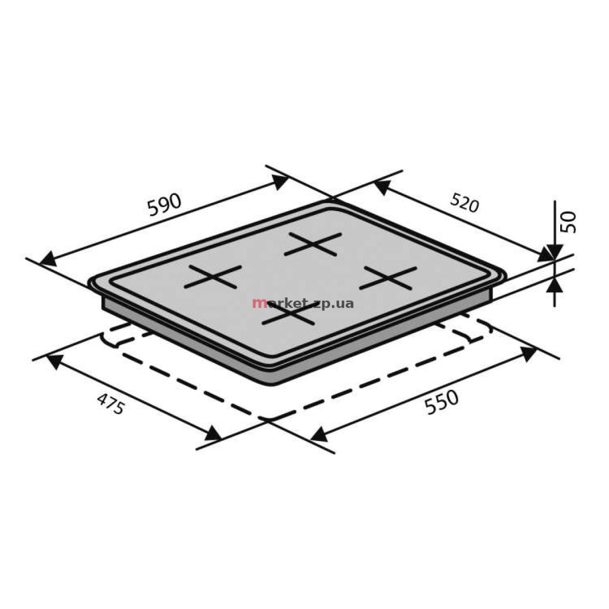 Поверхность VENTOLUX HSF640-D3 CS (WH)
