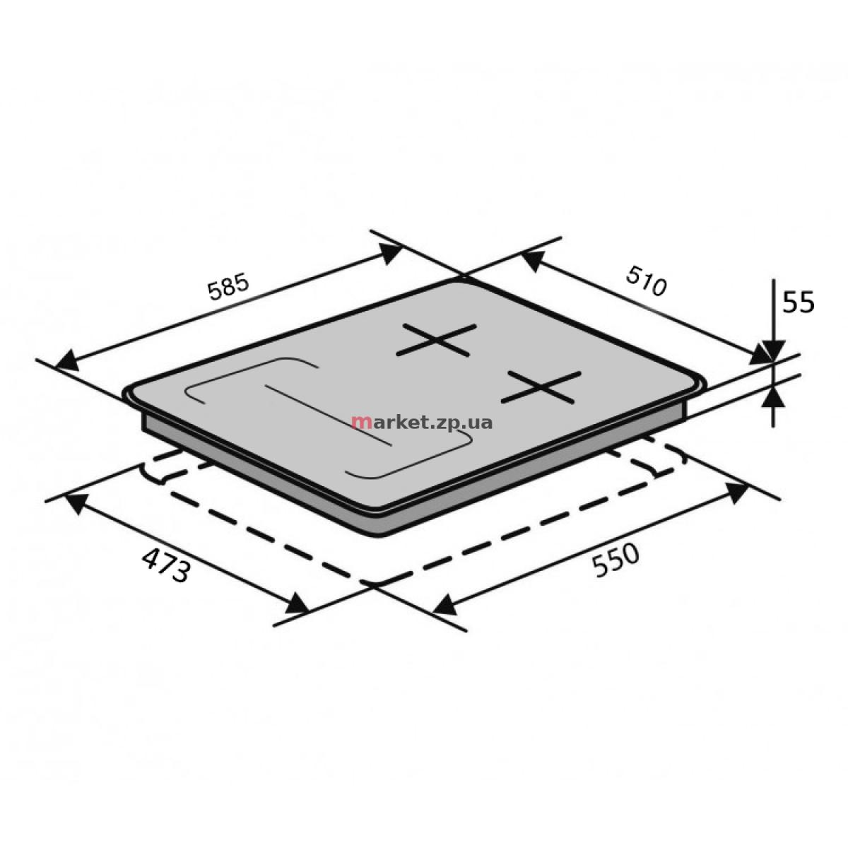Поверхность VENTOLUX HG622 B9G CS FI (BK)