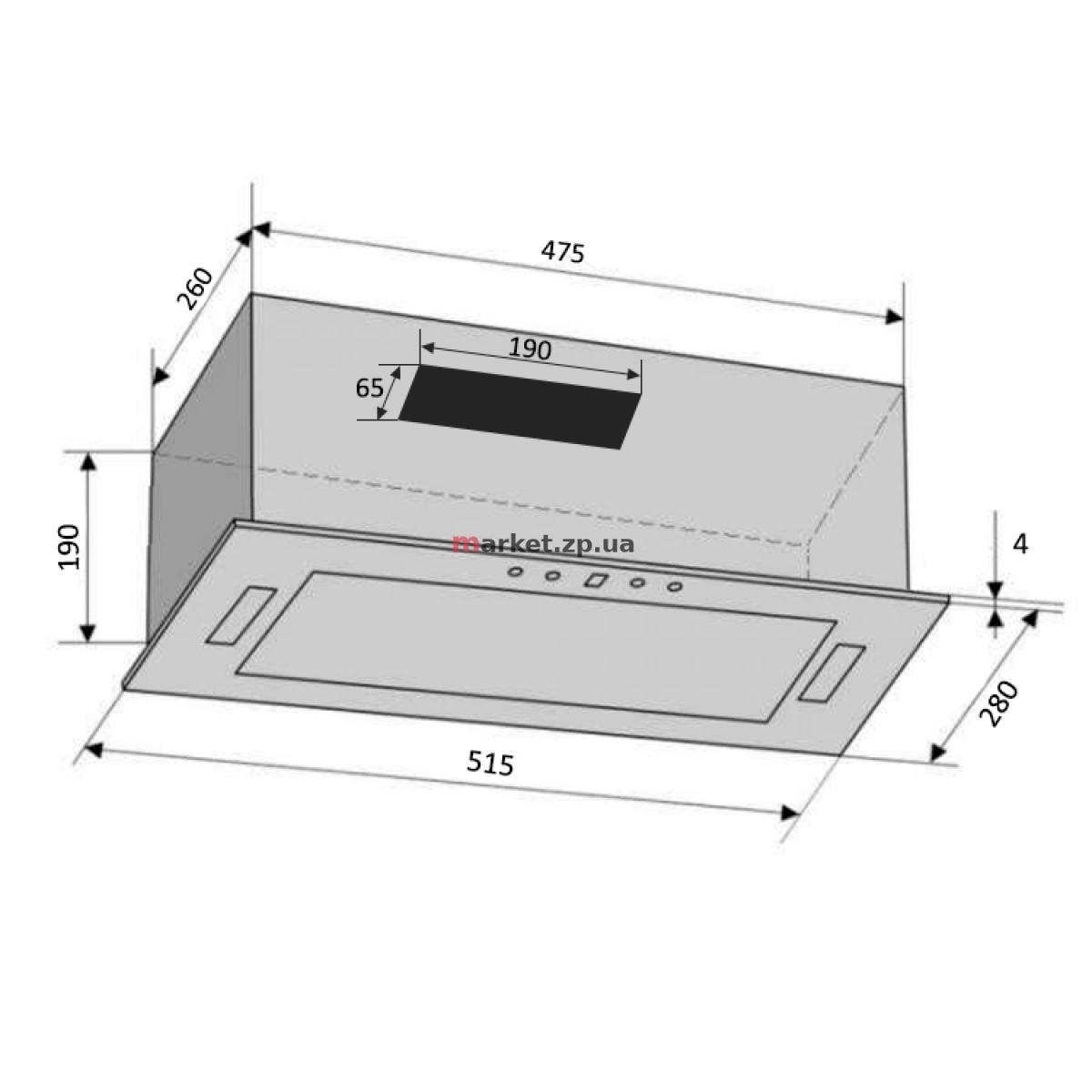 Вытяжка VENTOLUX PUNTO 52 X (800) KN