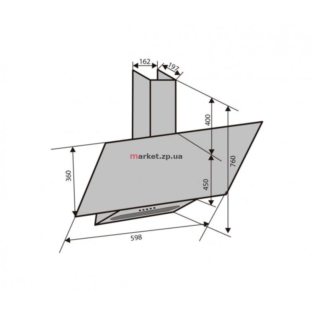 Вытяжка VENTOLUX MIRROR 60 BK (750) PB