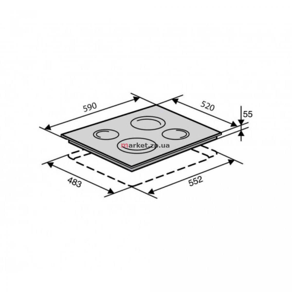 Поверхность стеклокерамическая VENTOLUX VB 68 TC