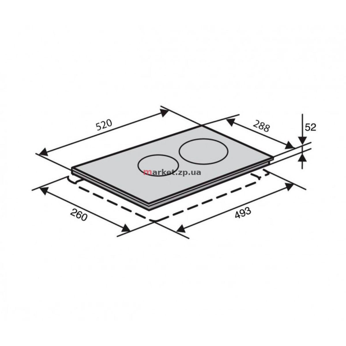 Поверхность стеклокерамическая  VENTOLUX VB 33 TC