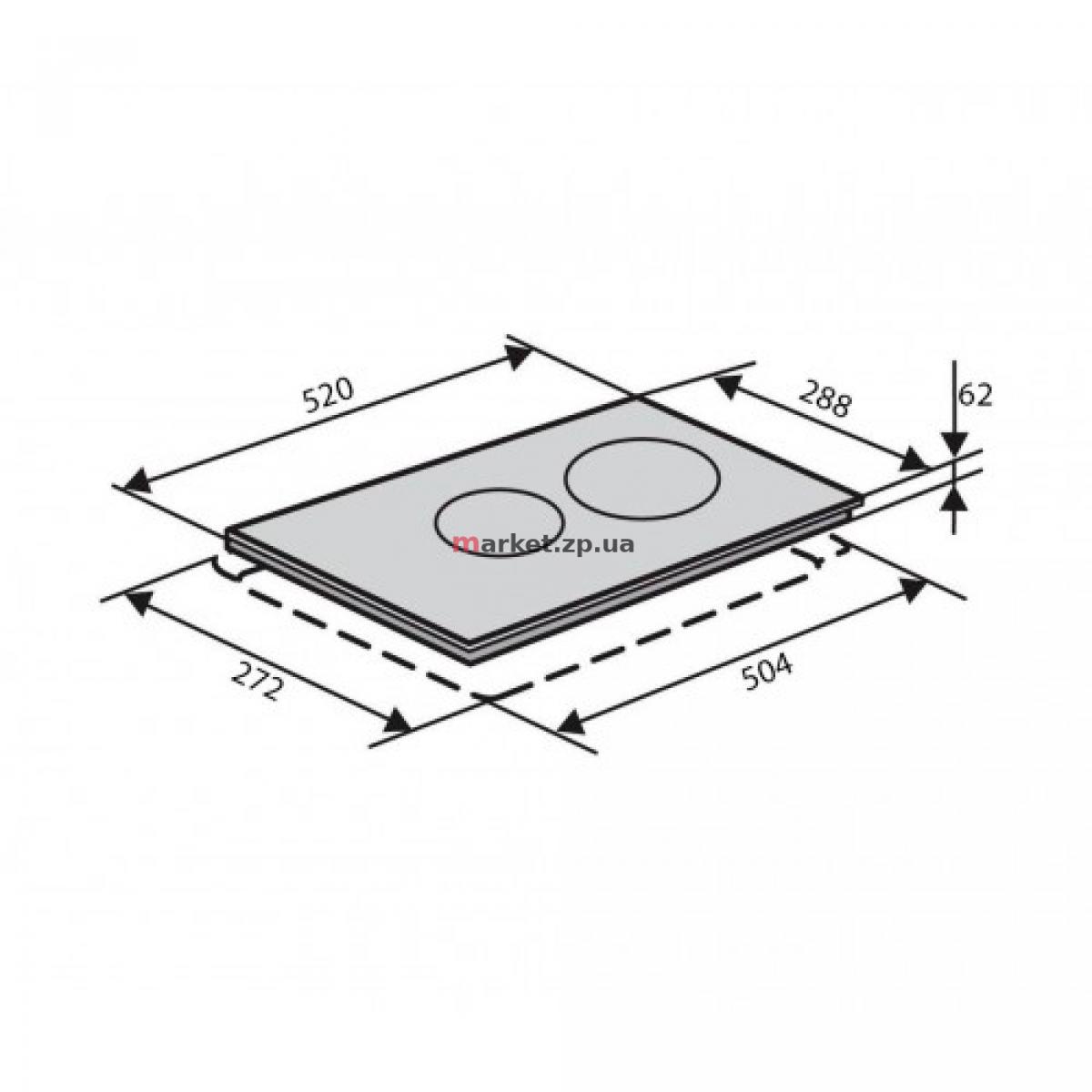 Варочная поверхность индукционная VENTOLUX VI 32 TC