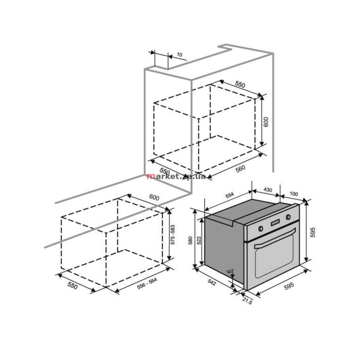 Духовой шкаф VENTOLUX  EO56M-6K BK